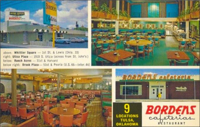"15. ""Bordens Cafeteria Restaurant; Tulsa, Oklahoma."""