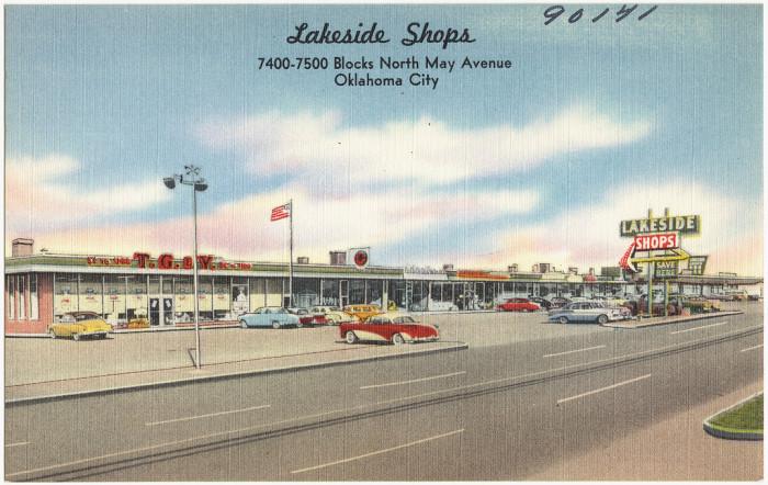 "5. ""Lakeside Shops, 7400 - 7500 blocks North May Avenue, Oklahoma City."""
