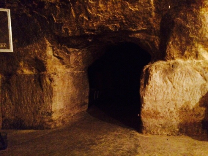 The street caves were used during those times as a speakeasy.