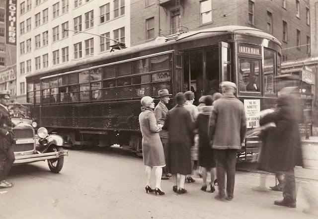 2. Downtown Tulsa streetcar in 1931.