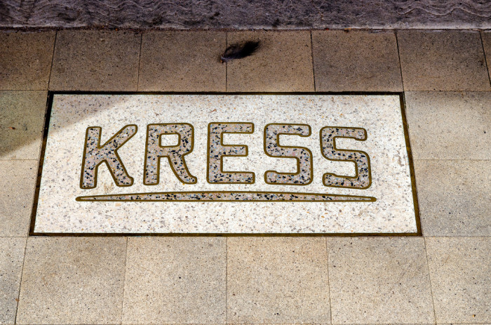 6. Shopping at the ever so popular Kress Stores.