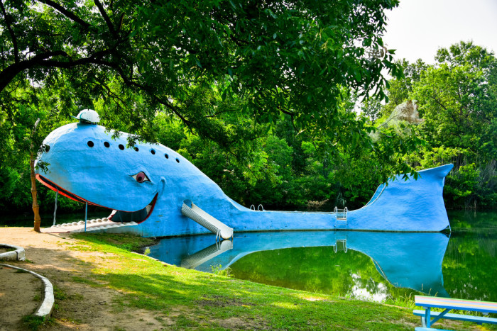8. Swimming at the Blue Whale in Catoosa.