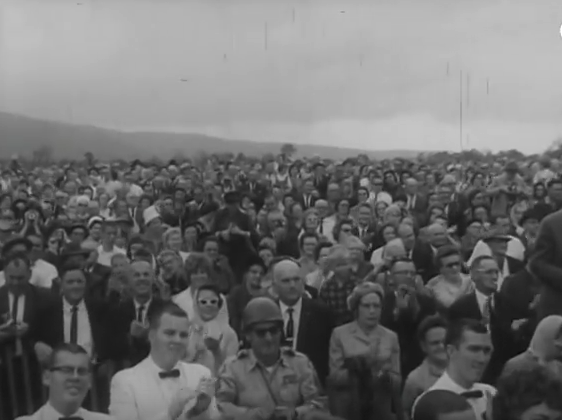 6. Here was the crowd of over 25,000 people that came out to see President Kennedy in 1961.