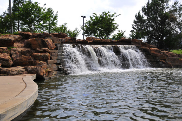 1. You'll start your trip out from Bricktown Falls in Oklahoma City. Although man-made, the falls are beautiful. Make sure your camera is ready for the breathtaking sights you are about to encounter.
