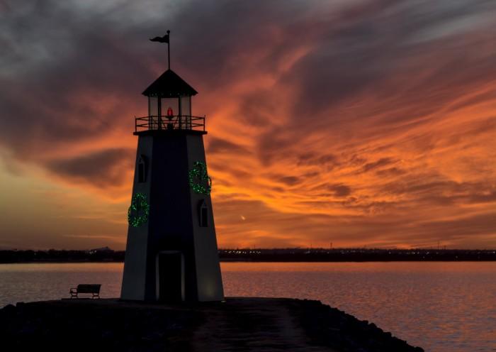 5. A breathtaking Lake Hefner sunset.