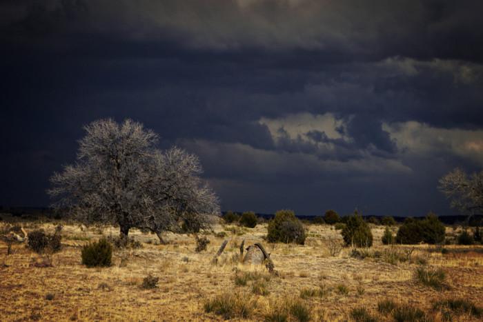 11. A brewing storm in Black Mesa.