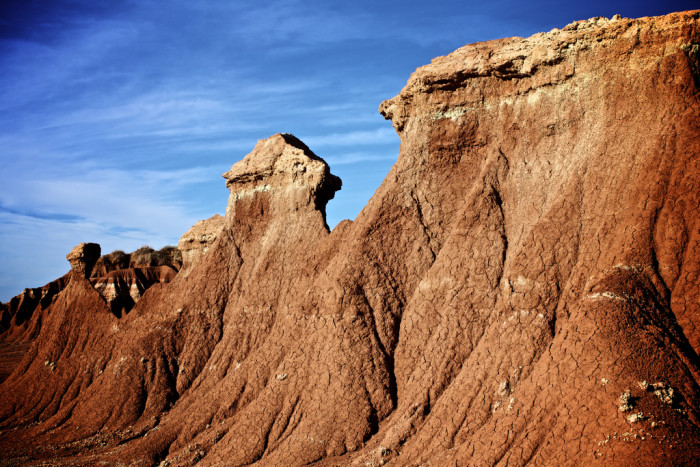 4. Eroded rock formations in northwest Oklahoma.