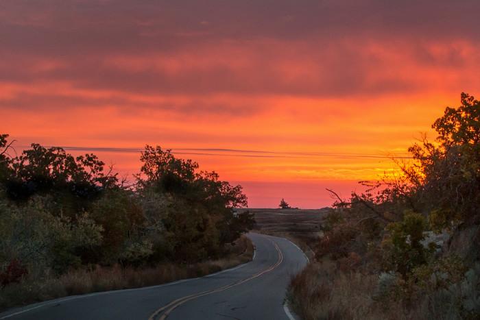 14. An endless road to beautiful Oklahoma.