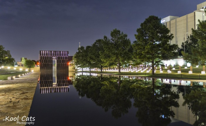 6. Remembering those who sacrificed their lives at the Oklahoma National Memorial.