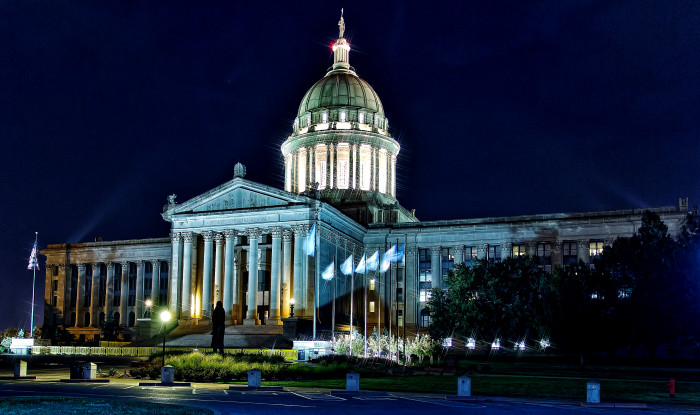 8. The Oklahoma State Capitol building standing tall and shining bright.