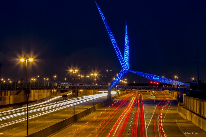 3. SkyDance Bridge could be in a futuristic movie.