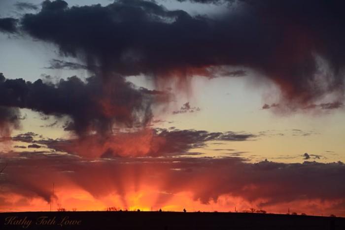 10. A strange, yet beautiful sunrise.
