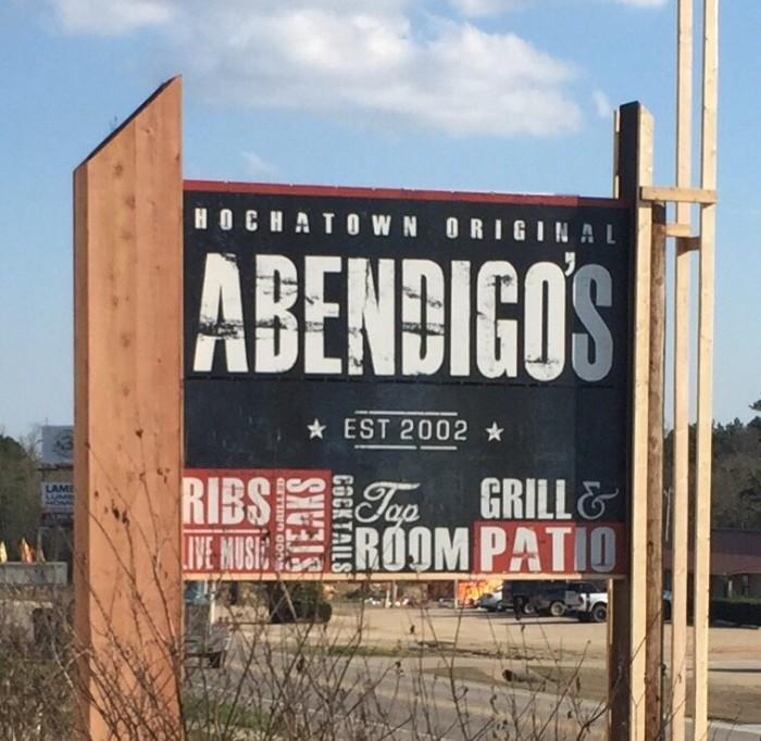 10. Abendigo's Grill & Patio, Hochatown