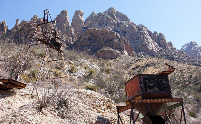 13. Abandoned mining equipment from the Hayner Ruby Mine, near Las Cruces.