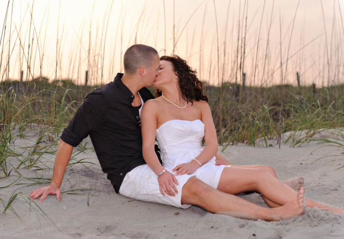 ...or a little kissing on the beach later in the day?