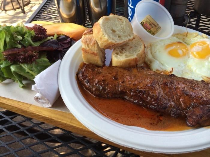panini steak and eggs indinaa