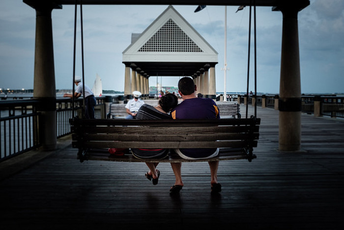 While you're in Charleston, the Waterfront Park is a great place to stop and have a moment.