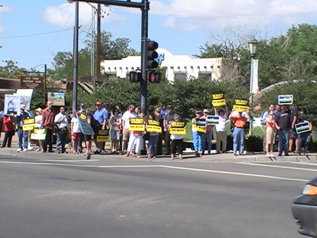 13. Protesters