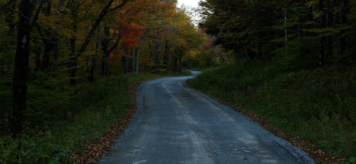 12. This country road somewhere in West Virginia.