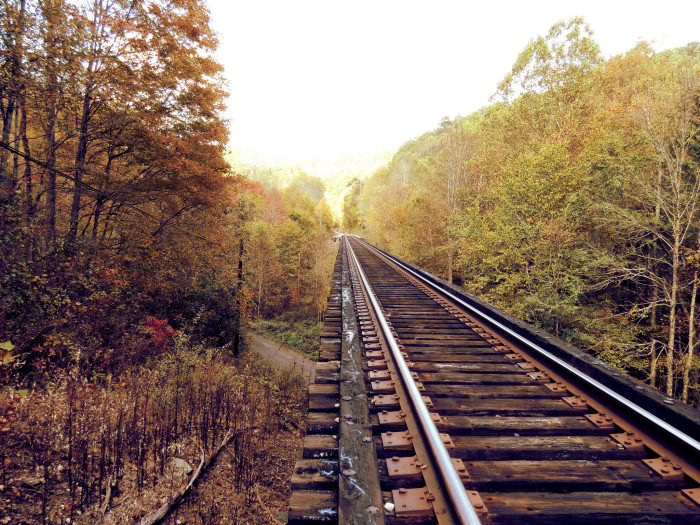 18. These train tracks in Big Stick (Raleigh County).