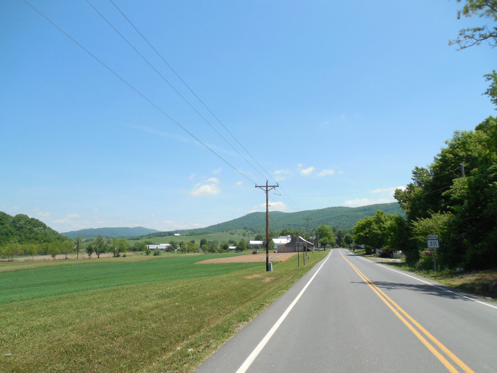 11. This country road in Sweet Springs (Monroe County).