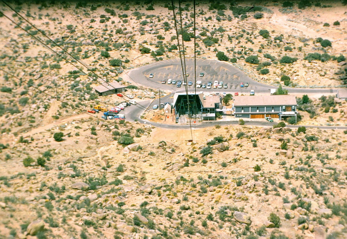 5. Albuquerque's Sandia Peak tramway opened in 1966. This is what the view looked like from a cable car in 1972.