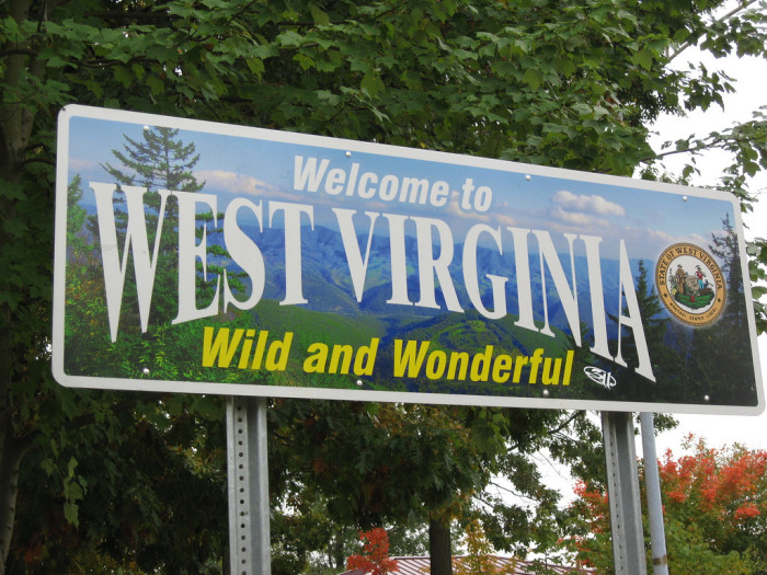 """9. Signs with West Virginia's """"Wild and Wonderful"""" motto"""