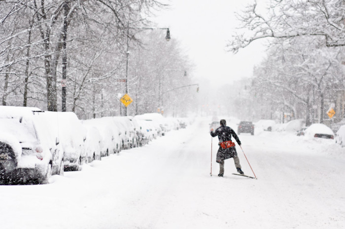 5. When your morning commute consists of strapping on skis.