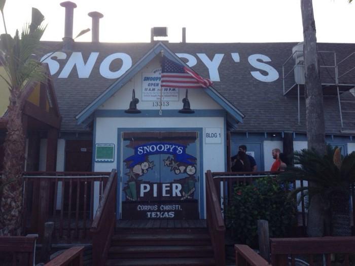 8. Snoopy's Pier (Corpus Christi)