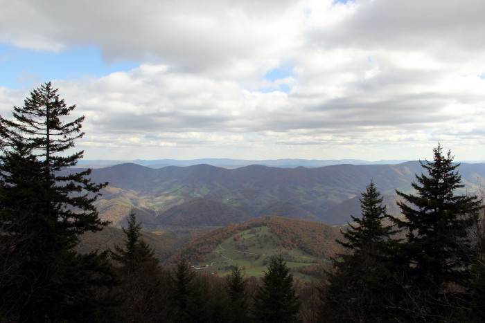 Spruce Knob, at 4,863 feet, is the highest point in West Virginia. It is the summit of Spruce Mountain and is located near Whitmer and Harman, W.Va.