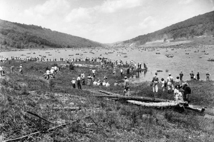 11. Spruce Knob Lake is packed in this June 6, 1953 photo.