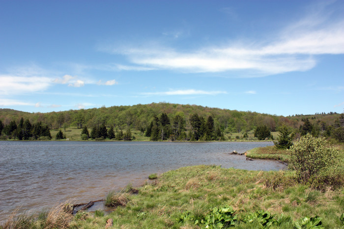 The mountain has more than 75 miles of hiking trails as well as a 25-acre lake on the west side that is stocked with trout.