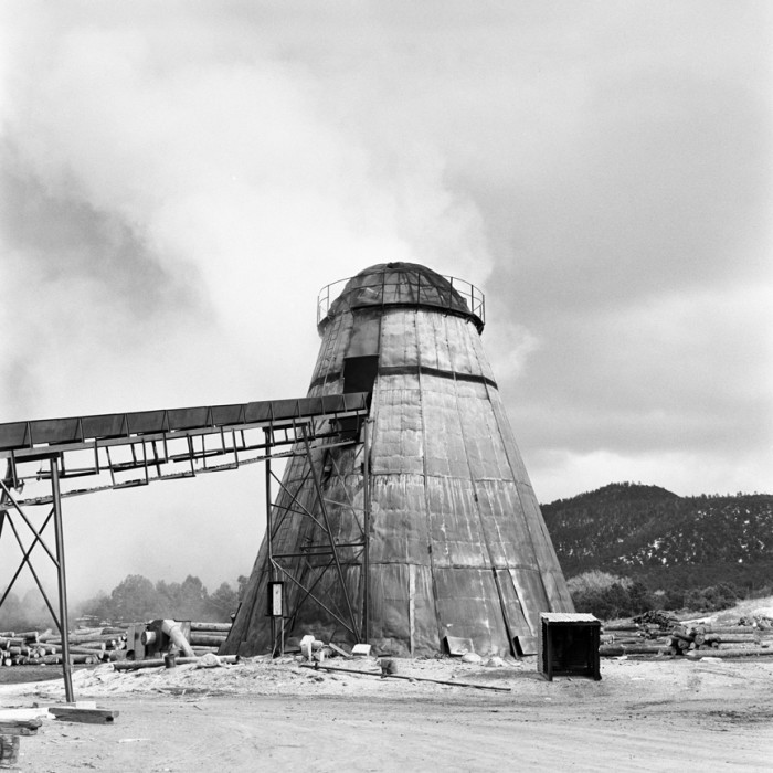 7. A teepee burner near Taos. The timber industry used them to burn waste products.