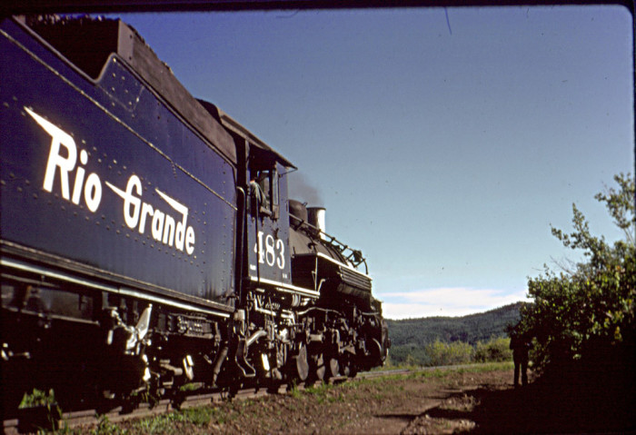 3. This train was traveling between Cumbres Pass and Chama when this picture was snapped in 1966.
