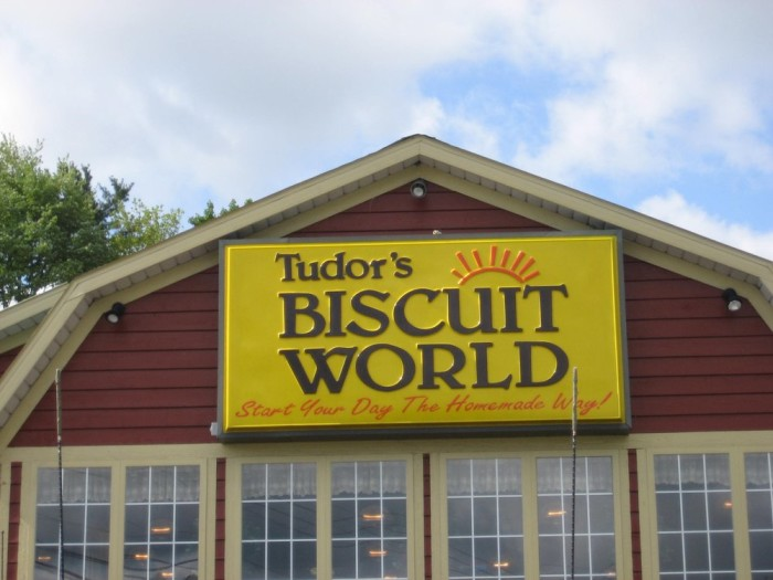 4. The Tudor's Biscuit sign