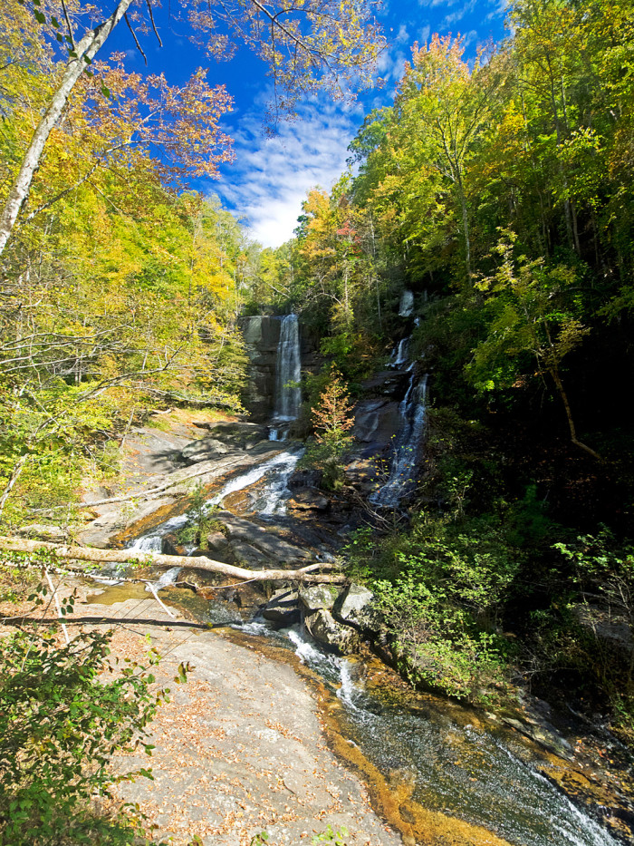 The hike into the falls is a relatively short, easy journey.