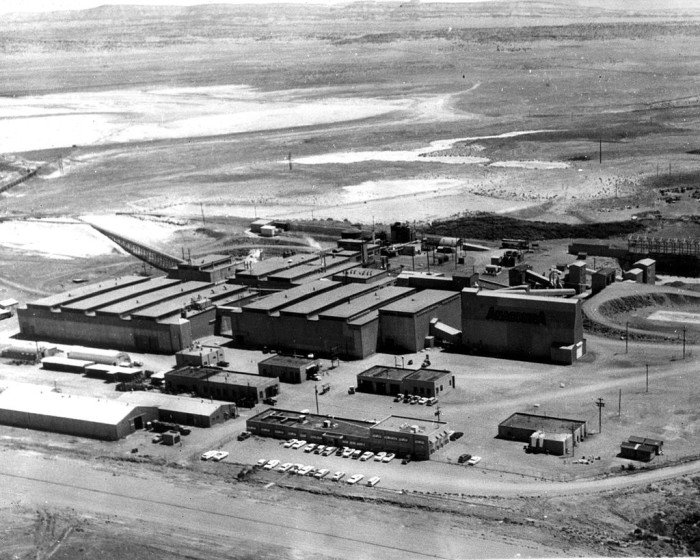 5. The Anaconda Company Bluewater Mill, a large uranium mill, located near Grants.