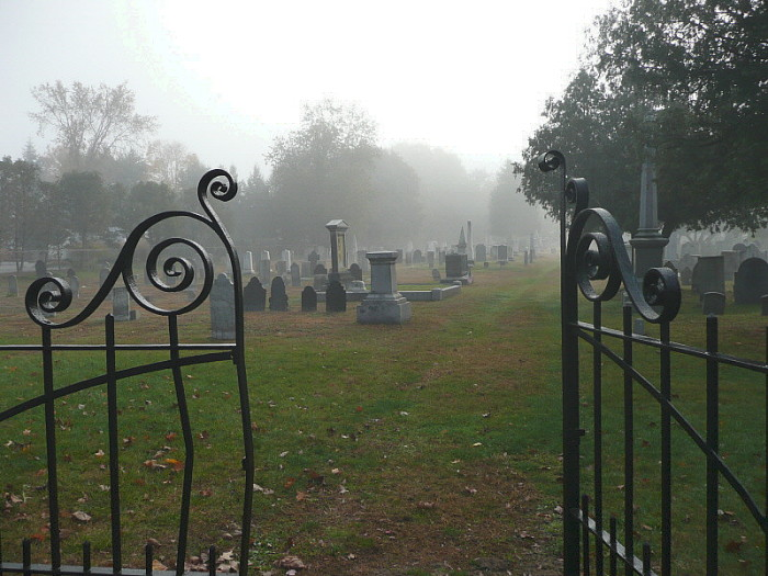 15. The gates are open, but we don't want to go into Washington cemetery in Keene.