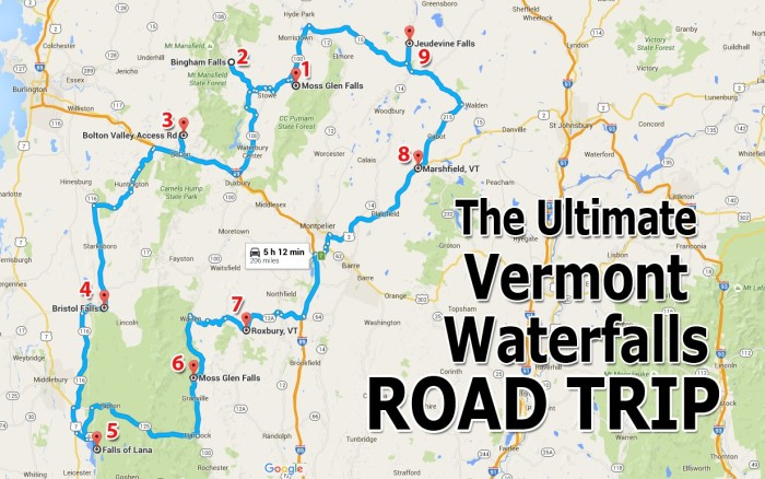 The Ultimate Vermont Waterfall Road Trip