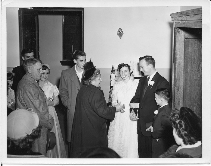 17. This was a wedding in Mannington in 1951.