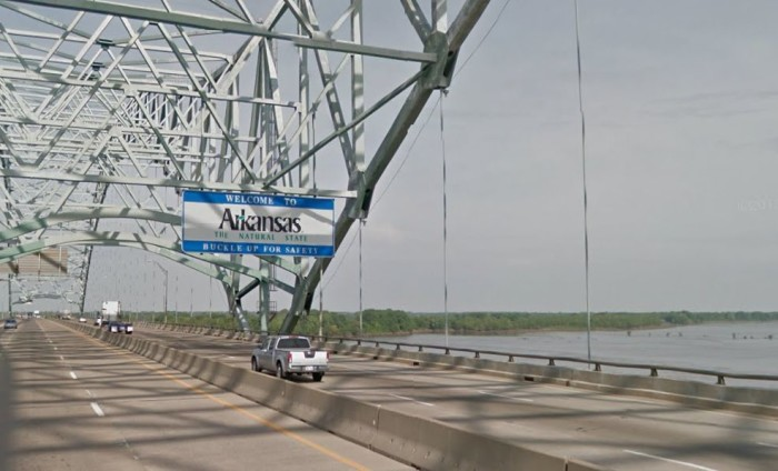 4. The Welcome Sign on the De Soto Bridge