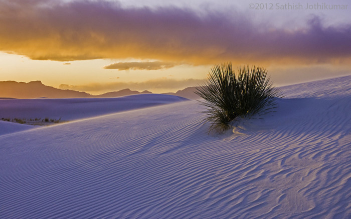 3. ...And of the magic of nature. After all, it's hard to beat White Sands at sunset.