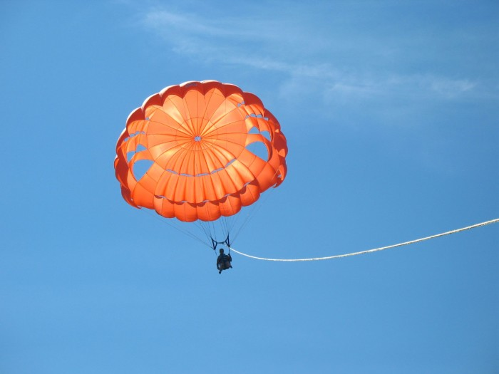 You could go parasailing, to see Lake George in an entirely new way!