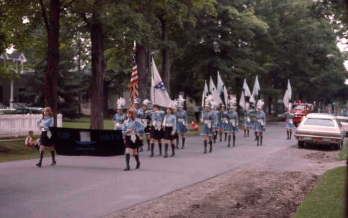 11. Taken in July of 1976, you can see the small town of Addison celebrating the United States Bicentennial with a parade!