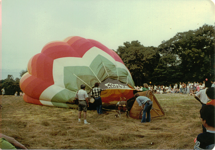 4. Someone was lucky enough to be getting ready for a ride up in that hot air balloon!