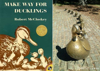 """9. """"Make Way for Ducklings"""" because it's our official state children's book."""