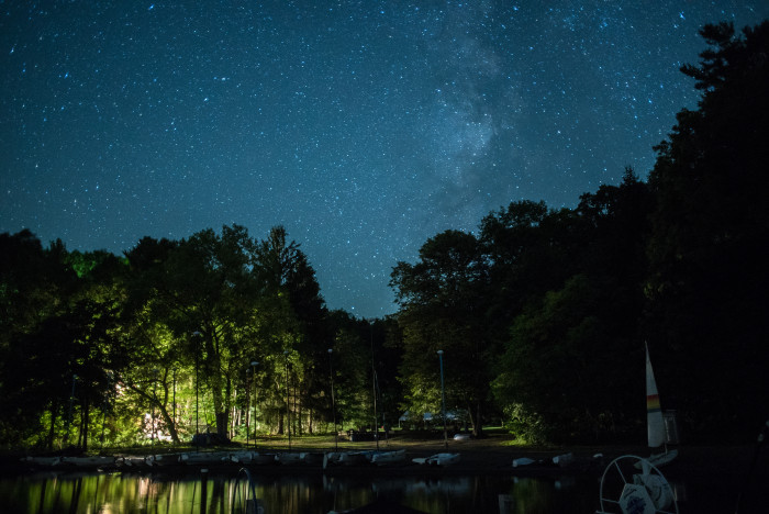 2. Lay down and look up at the gorgeous night sky displayed above one of New York's 11 Finger Lakes.