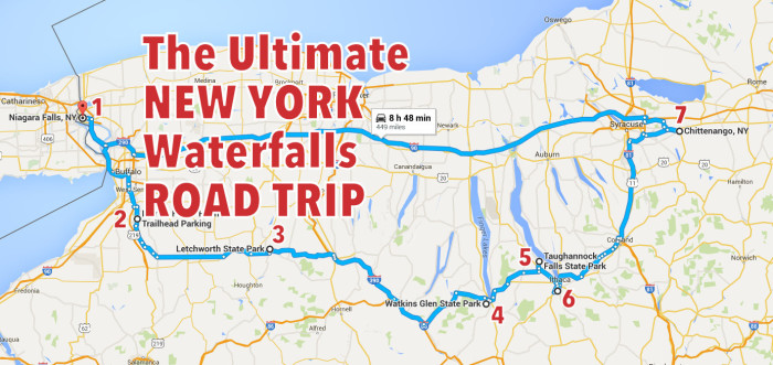 The Ultimate New York Waterfalls Road Trip - Road map new york state