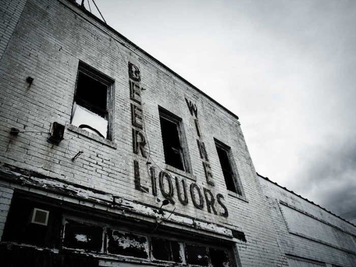 Stores, once crowded, lay vacant.