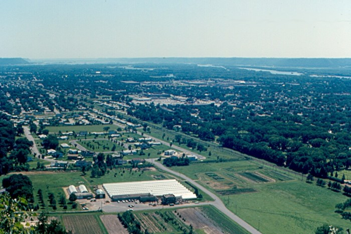 6. This is a nice shot of La Crosse from Grandad Bluff in 1972.